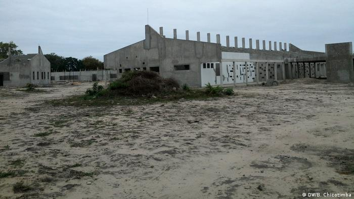Mosambik Bau des Machaze Krankenhauses