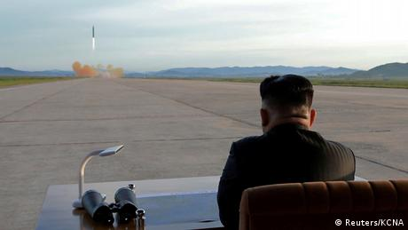 Kim Jong-Un watching launch of Hwasong-12 missile(Reuters/KCNA)
