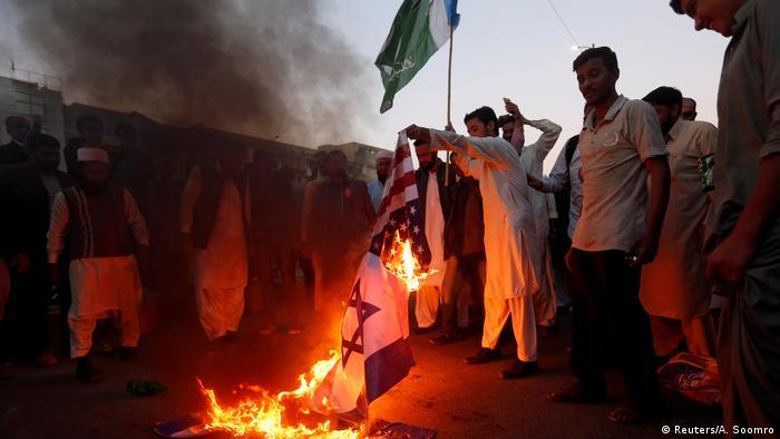 Protestas en Pakistán.