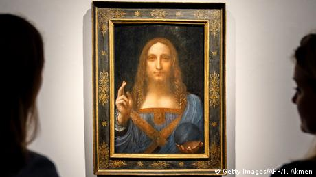 Leonardo da Vinci's Salvator Mundi painting (Getty Images/AFP/T. Akmen)