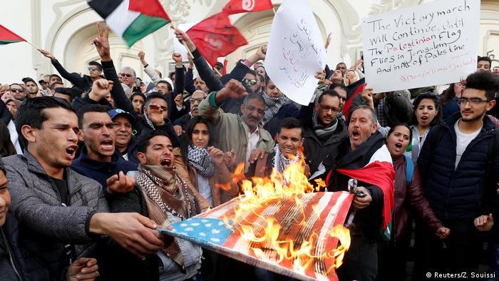 Tunesien Proteste gegen Anerkennung USA Jerusalem (Reuters/Z. Souissi)
