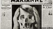 Marinus_Hitler als Totenkopf. ***Das Pressebild darf nur in Zusammenhang mit einer Berichterstattung über die Ausstellung verwendet werden***