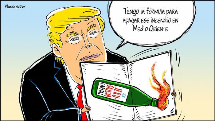 Karikatur Vladdo - Explosiver Cocktail
