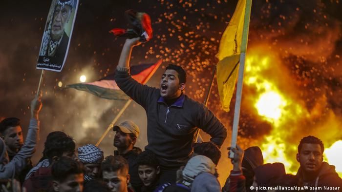 Jerusalem-Konflikt Proteste in Gaza (picture-alliance/dpa/Wissam Nassar)