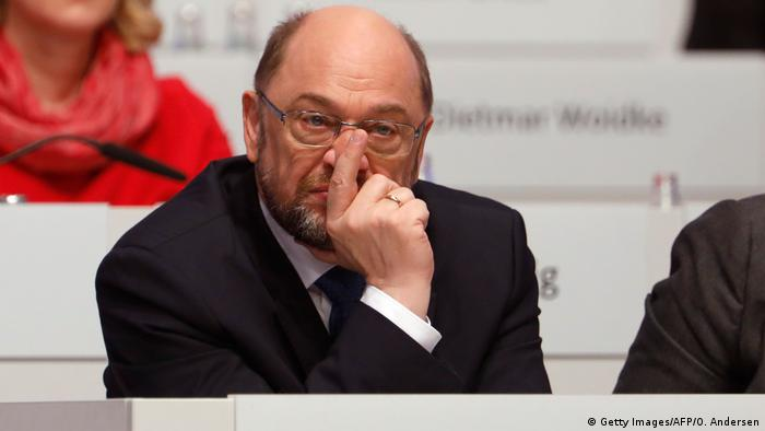 Martin Schulz in Berlin at the SPD party convention (Getty Images/AFP/O. Andersen)