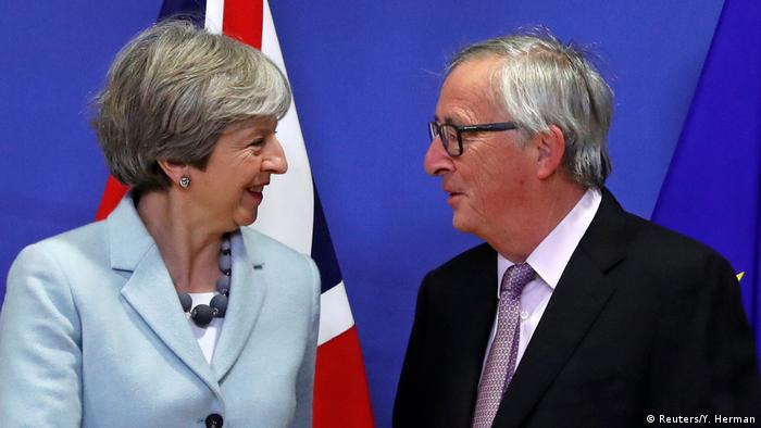 Theresa May Jean-Claude Juncker (Reuters/Y. Herman)