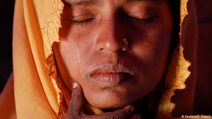 Вдова-біженка рохінджа у таборі в Бангладеш, грудень 2017 року
