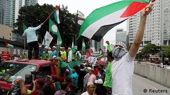 Malaysia pro-palästinensische Demo vor der US Botschaft in Kuala Lumpur (Reuters)