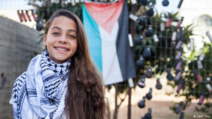 A young Palestinian girl in the West Bank