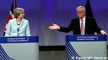 Belgien May und Juncker in Brüssel (Reuters/Y. Herman)