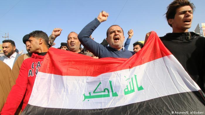 Irak Proteste Trump Israel Palästina Jerusalem (Reuters/E. al-Sudani)