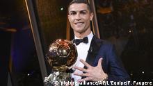 Frankreich Paris Cristiano Ronaldo gewinnt erneut Ballon d'Or