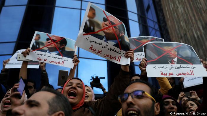 Ägypten Proteste gegen die Verlegung der US Botschaft nach Jerusalem (Reuters/M. A. E. Ghany)