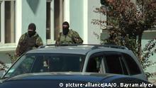 Ukraine Mejlis Gebäude der Tatar untersucht bei FSB in Krim