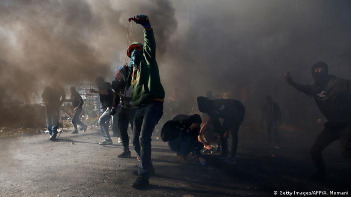 Westjordanland Proteste gegen die Verlegung der US Botschaft nach Jerusalem (Getty Images/AFP/A. Momani)
