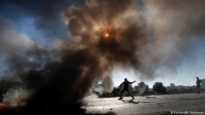 Westjordanland Proteste gegen die Verlegung der US Botschaft nach Jerusalem