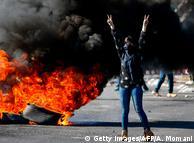 Палестинська демонстрантка. Під час сутичок з ізраїльськими військовими