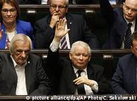 Голосування за судову реформу, у центрі - лідер ПіС Ярослав Качинський