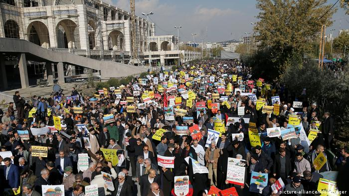Protests in Tehran (picture-alliance/AA/Stringer)