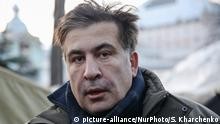 06.12.2017 +++ Mikheil Saakashvili speaks with protesters in their tent camp near of Parliament building in Kiev. Ukrainian Police issue wanted notice for ex-governor of Odessa region and former Georgian president Mikheil Saakashvili for escaping from custody a day earlier, Kiev, Ukraine, Dec.5, 2017. (Photo by Sergii Kharchenko/NurPhoto) | Keine Weitergabe an Wiederverkäufer.