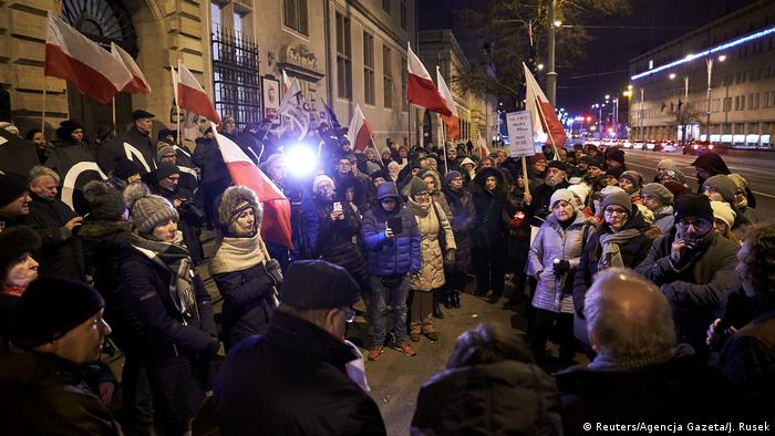 Protests in Gdansk, Poland against judicial reform