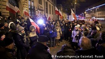 Протест в защиту судебной системы в Польше