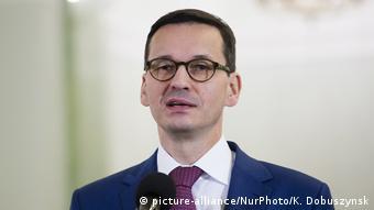 Polish Prime Minister Mateusz Morawiecki (picture-alliance/NurPhoto/K. Dobuszynsk)