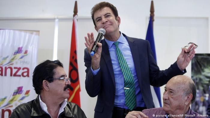 Honduras Salvador Nasralla, Manuel Zelaya, Carlos Reyes