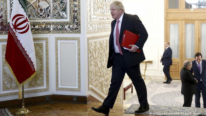 Iran Teheran Besuch Boris Johnson (picture-alliance/AP Photo/E. Noroozi)