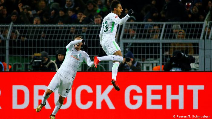 1. Bundesliga 15. Spieltag | Borussia Dortmund - Werder Bremen | TOR Bremen (Reuters/T. Schmuelgen)