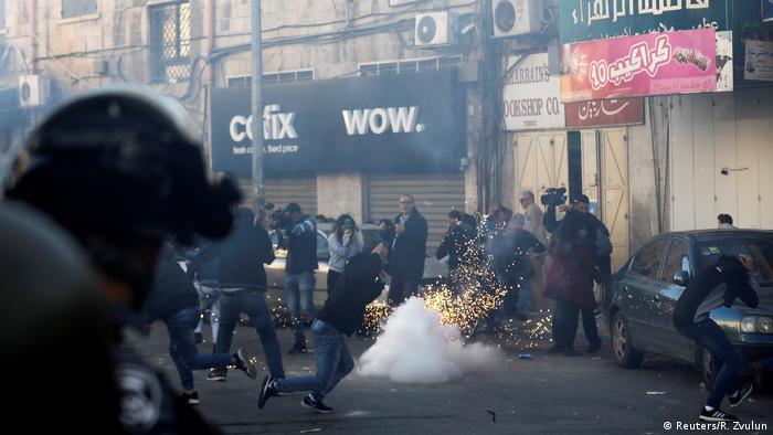 Israel Palästina - Protest in Ostjerusalem
