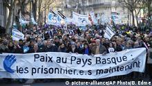 Frankreich Protest für baskische Gefangene in Paris