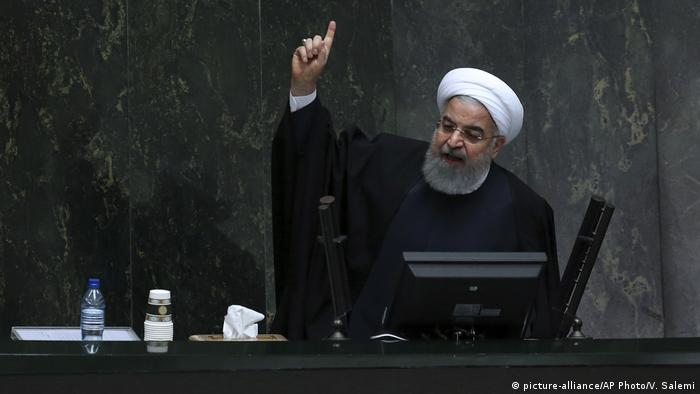 Iran Präsident Hassan Rohani (picture-alliance/AP Photo/V. Salemi)