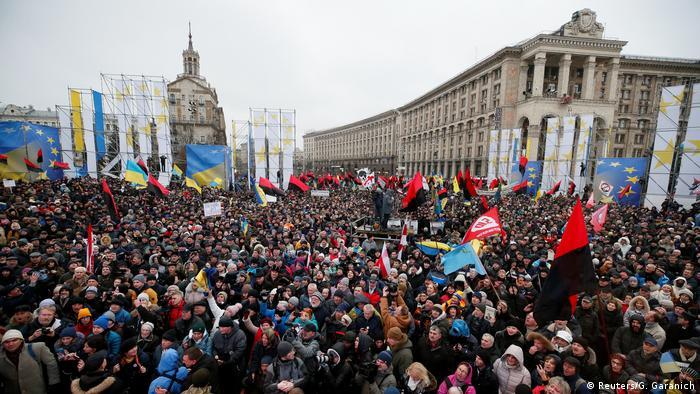 Ukraine Demonstration Anhänger von Micheil Saakaschwili in Kiew