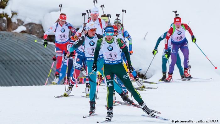Österreich Biathlon der Damen in Hochfilzen (picture-alliance/Expa/Jfk/APA)
