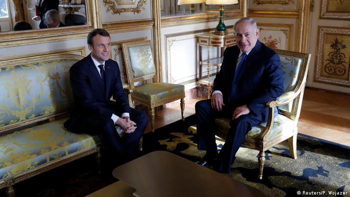 Israel Emmanuel Macron & Benjamin Netanjahu (Reuters/P. Wojazer)
