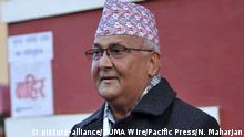Nepal Khadga Prasad Sharma Oli in Kathmandu (picture-alliance/ZUMA Wire/Pacific Press/N. Maharjan)