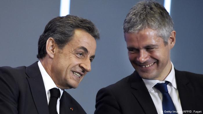 Frankreich Nicolas Sarkozy und Laurent Wauquiez in Paris (Getty Images/AFP/D. Faget)