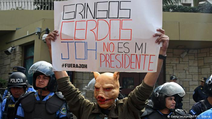 Honduras Wahlen Proteste (Getty images/AFP/O. Sierra)