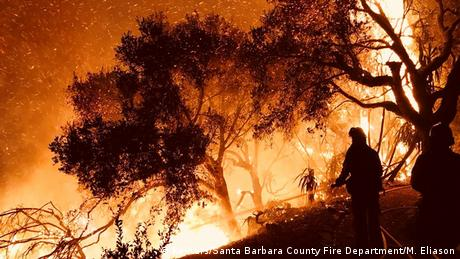 California wildfire rages (Reuters/Santa Barbara County Fire Department/M. Eliason)