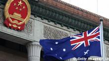 China Peking Australische Flagge