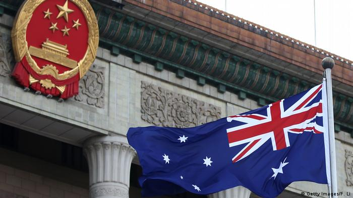 China Peking Australische Flagge (Getty Images/F. Li)