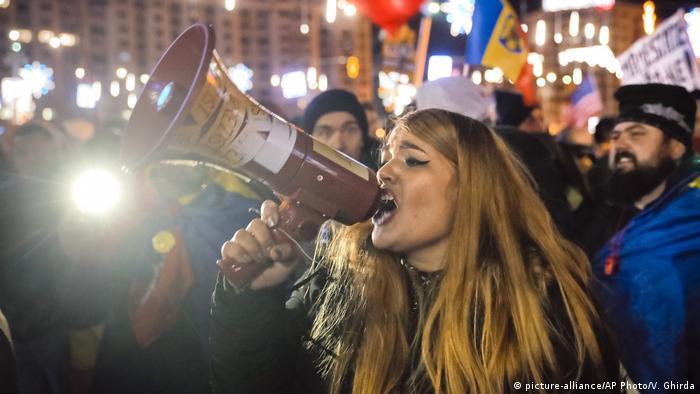 Rumänien Bukarest Demonstration gegen Korruption