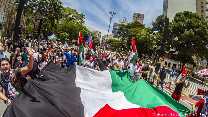 Brasilien Sao Paolo Proteste gegen US-Entscheidung zu Jerusalem (picture-alliance/ZUMA Wire/C. Faga)