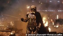 This image released by Lucasfilm shows Gwendoline Christie as Capt. Phasma in Star Wars: The Last Jedi. (Lucasfilm via AP) |