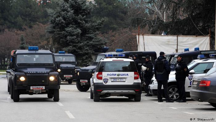 Mazedonien Polizei Symbolbild (P. Stojanovski)
