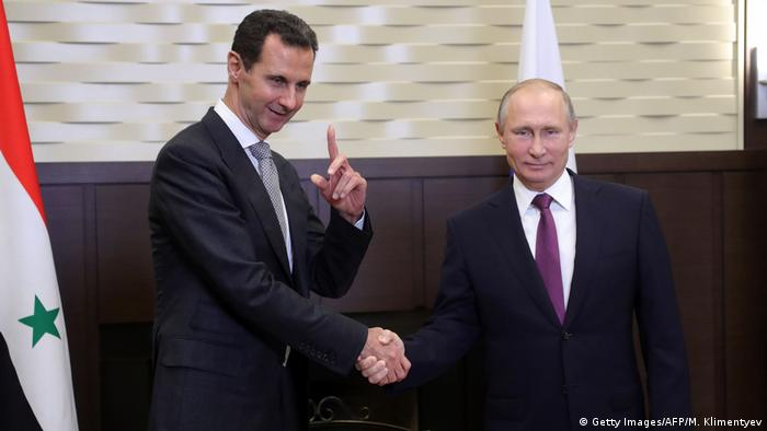 Putin und Assad (Getty Images/AFP/M. Klimentyev)