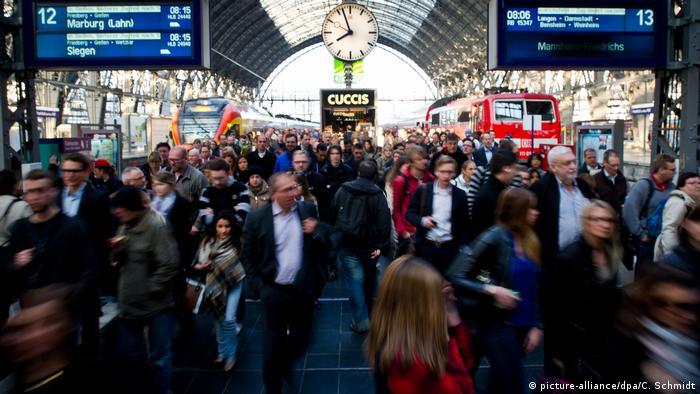 Франкфурт-на-Майне: вокзал в час-пик