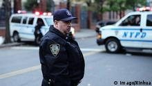 (171031) -- NEW YORK, Oct. 31, 2017 -- A police officer stands guard near the site of an attack in lower Manhattan in New York, the United States, on Oct. 31, 2017. New York City Mayor Bill de Blasio called on Tuesday a truck attack near the World Trade Center an act of terror, in which eight people were killed and a dozen more injured. ) U.S.-NEW YORK-LOWER MANHATTAN-ATTACK LixMuzi PUBLICATIONxNOTxINxCHN