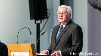 President Frank-Walter Steinmeier giving a speech at the reopening of the museum Haus der Geschichte in Bonn (Jennifer Zumbusch)